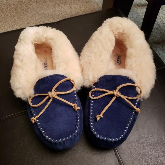 2f24c025d20 UGG ALENA Indoor Outdoor Slippers Navy Size 8